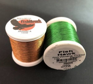 Нитки Fish Hawk Metallic Size A 100 Yard Spools